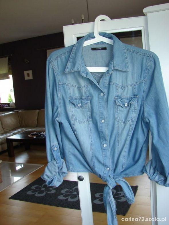 koszula jeans jasny wiązana