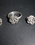 Róże pierścionek i kolczyki