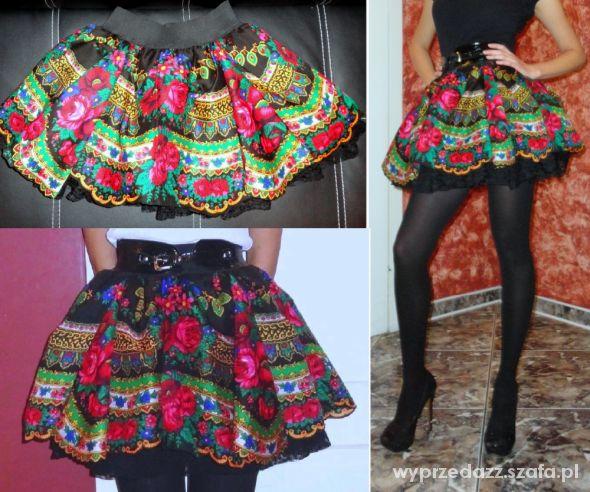 Spódnice spódnica w stylu cleo folk góralska ludowa