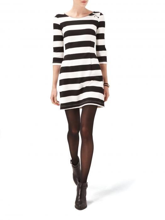 Eleganckie Sukienka Reserved paski naszyjnik