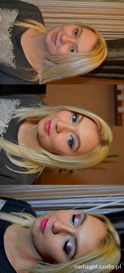 Fuksjowa metamorfoza makijażowa