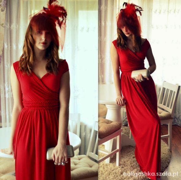 Wieczorowe Czerwona sukienka handmade