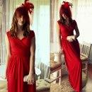 Czerwona sukienka handmade