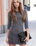 Sukienka szara ołówkowa h&m