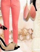 spodnie łososiowe bershka...