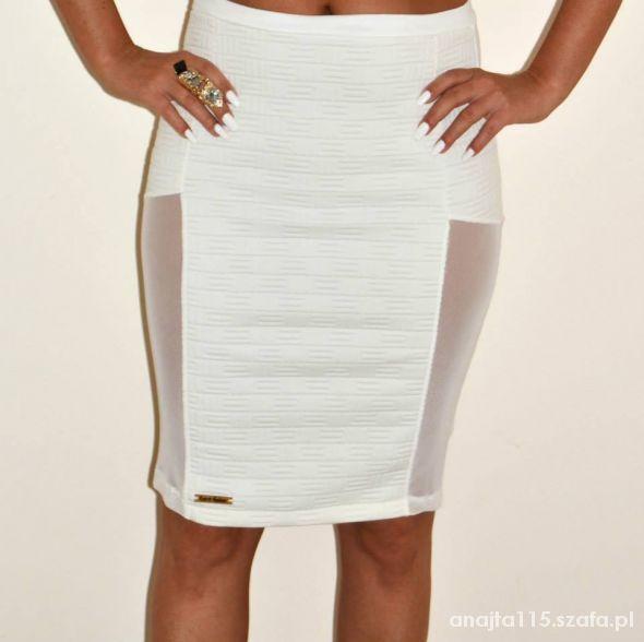 spódnica biała z siateczka