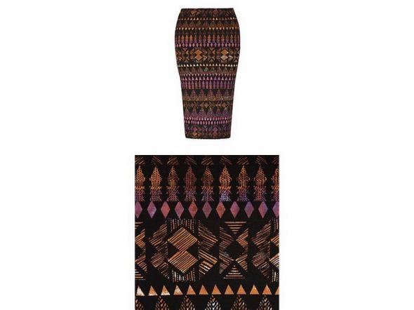 Spódnice Spódnica midi aztecka nowa bandazowa