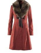 burgundowy płaszcz rozmiar M lub L