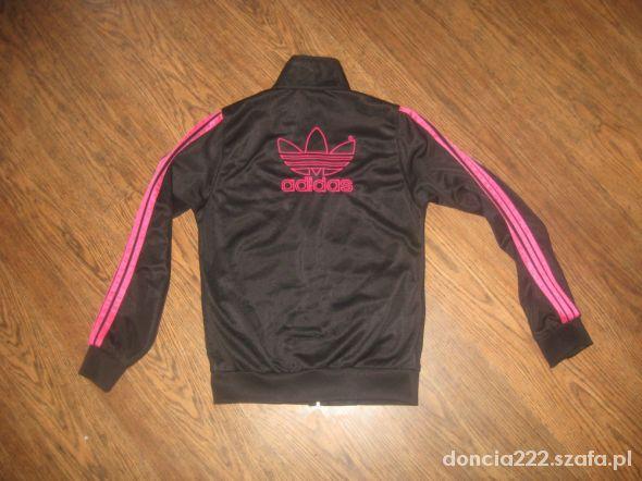 Bluza adidas damska czarno różowa z zamkiem 36 S