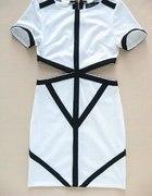 Republic sukienka z wycięciami w talii roz XS S M