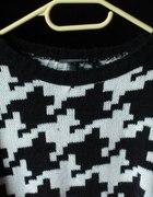 sweterek oversize czarno biały