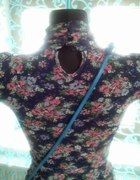Bluzka floral mgielka markowa 34 36