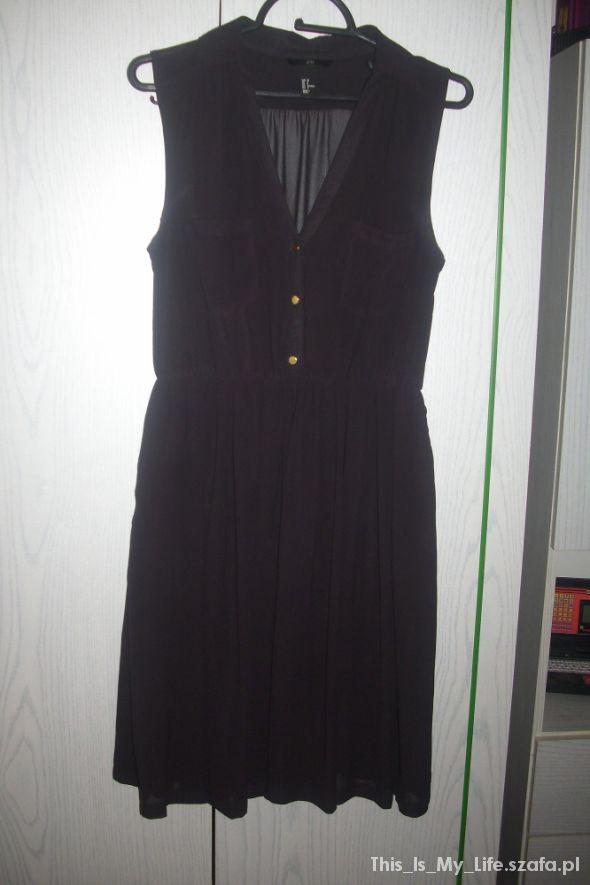 Suknie i sukienki Czarna mgiełka rozkloszowana