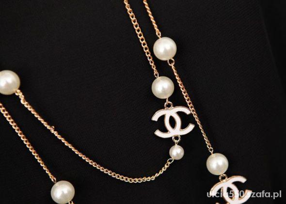 2464bb78f6ac4 NOWY CHANEL naszyjnik z pereł perły logo CC w Naszyjniki - Szafa.pl