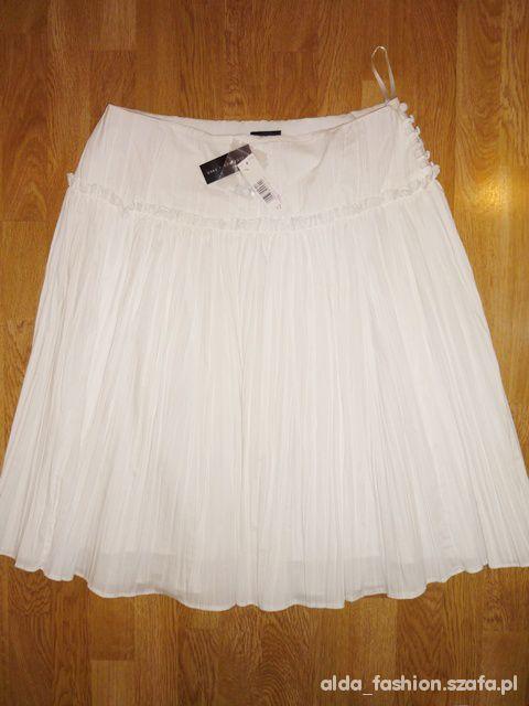 Spódnice FLORENCE FRED spódnica ecru plisowanka 40 42 NOWA