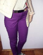 fioletowe spodnie top secret...