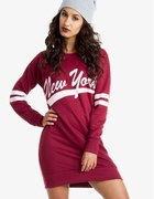 Bluza sukienka oversize NEW YORK Wine...
