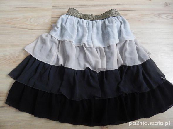 Spódnice Spódnica MINI ombre falbanki