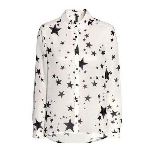 Koszule Koszula H&M gwiazdki biała