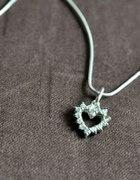 Nowy naszyjnik srebro z cyrkoniami serce