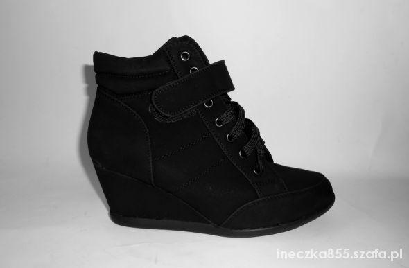 rozne rozmiary sneakers trampki na koturnie botki