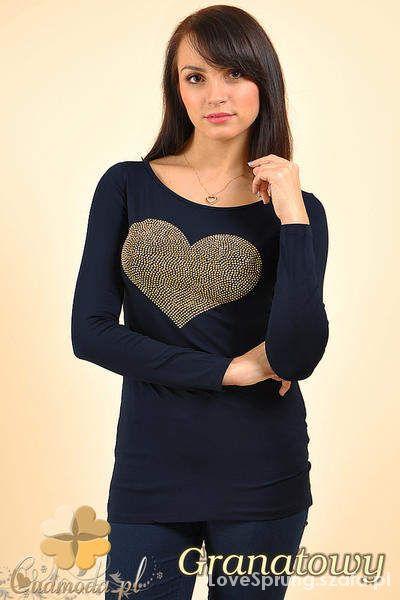 Ubrania bluzka z motywem serca tylko wymiana