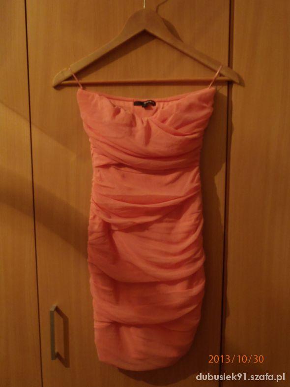Suknie i sukienki Ślicza różowa sukienka