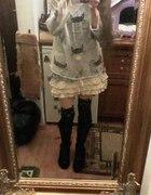 Sweterek koty japan style destroyed punk...