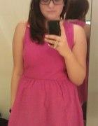 sukienka h&m rózowa