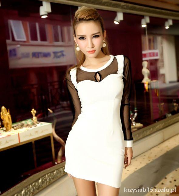 Sukienka Mini SIATECZKA Biała