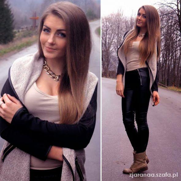 Blogerek beige black
