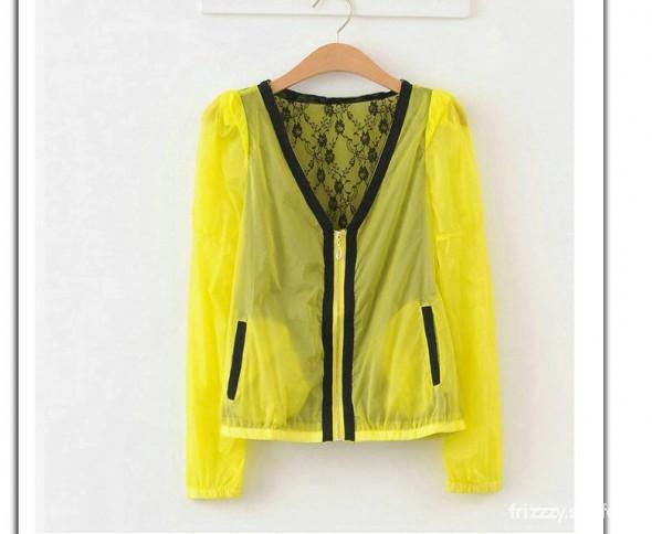 Neonowa żółta kurteczka