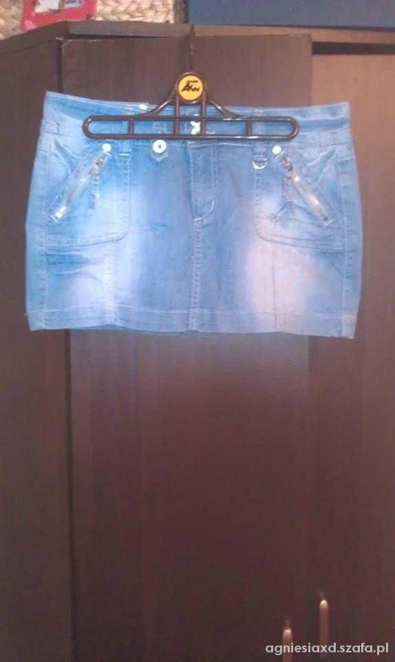 Spódnice spódnica mini jeans kieszenie m