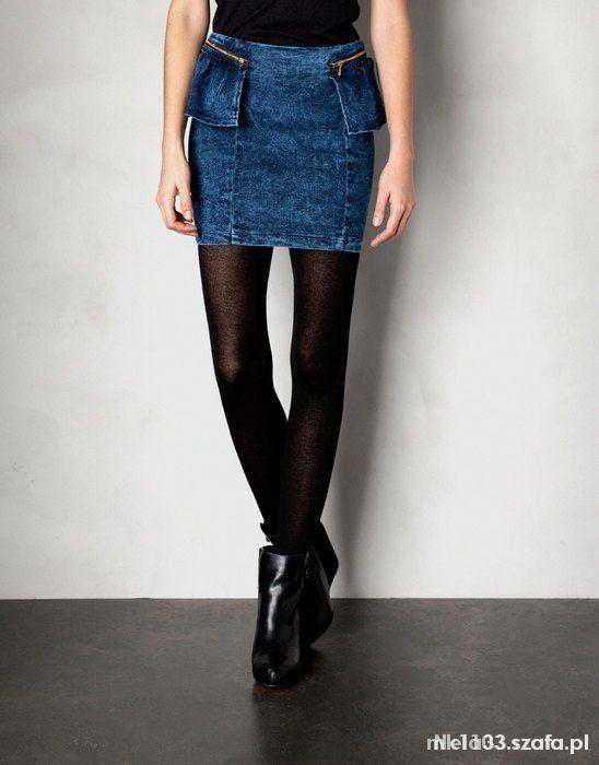 Spódnice Spódnica jeansowa Pull&Bear