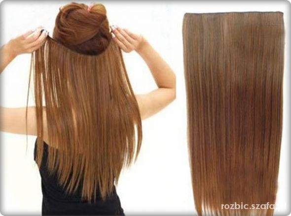 Inne Treski dopinki clip on naturalny ciemny blond