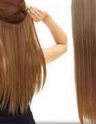 Treski dopinki clip on naturalny ciemny blond...