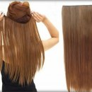 Treski dopinki clip on naturalny ciemny blond