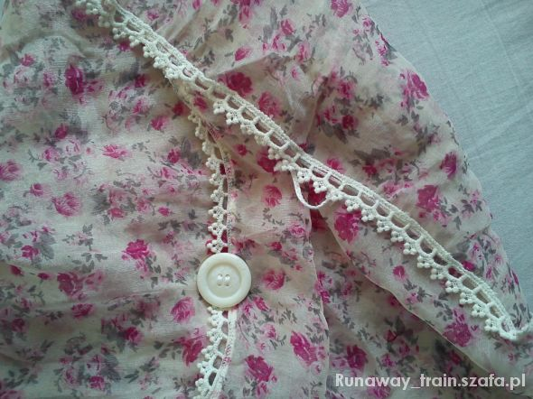 Chusty i apaszki chustka w różyczki Bijou Brigitte z guziczkiem