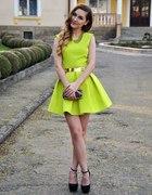 Sukienka Niesamowita limonka