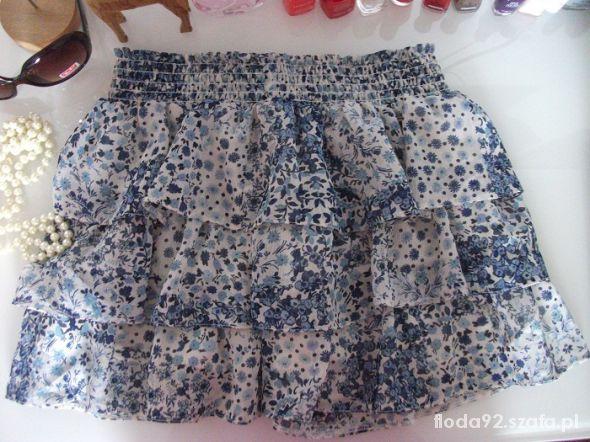 Spódnice new look spódniczka kwiaty floral łączka 38 M