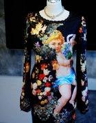 amour amour sukienka barokowe dzikie kwiaty cudo