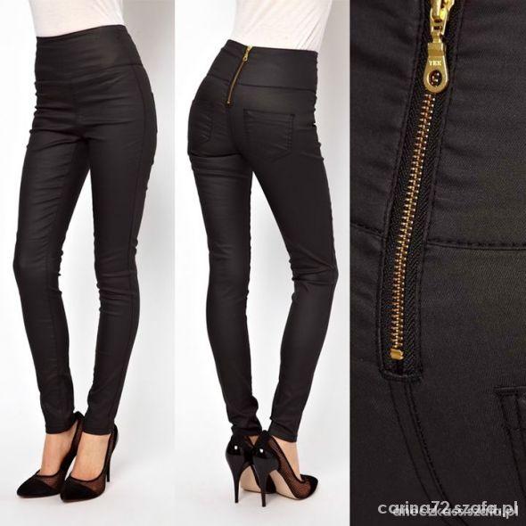 Spodnie WOSKOWANE zip
