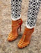 Sandały szpilki Zara z ćwiekami ćwieki