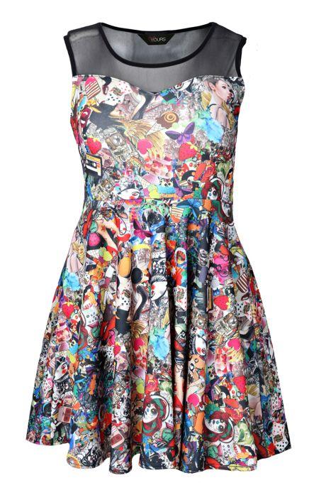 Ubrania komiksowa sukienka graffiti