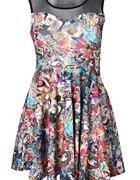 komiksowa sukienka graffiti