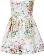 sukienka biała kwiaty