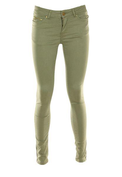 oliwkowe khaki spodnie jeansy H&M