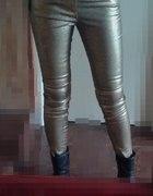 NOWE Spodnie złote ZARA