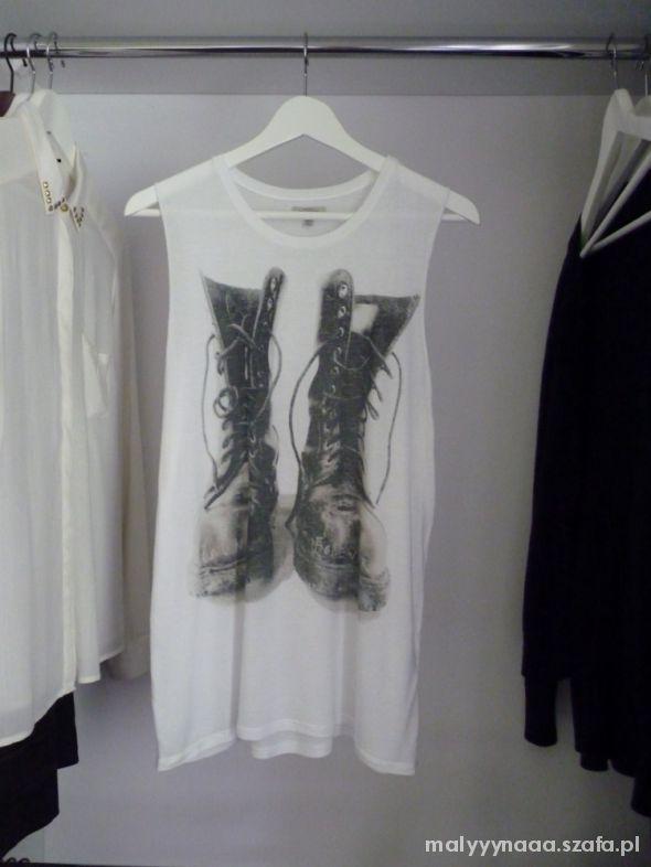 Luźna koszulka bez rękawów z nadrukiem ZARA