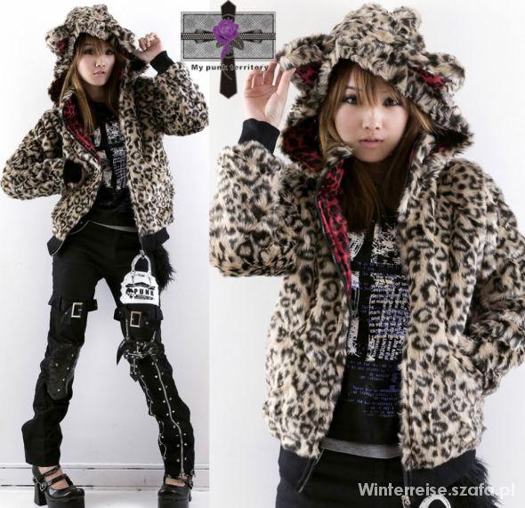 Kurtka panterka punk japan style leopard jacket